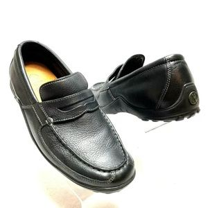 Cole Haan Men's Penny Loafers Moc Toe BlackLeather